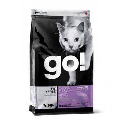 GO! Fit + free chicken, turkey + duck Hrana za mačke brez žit