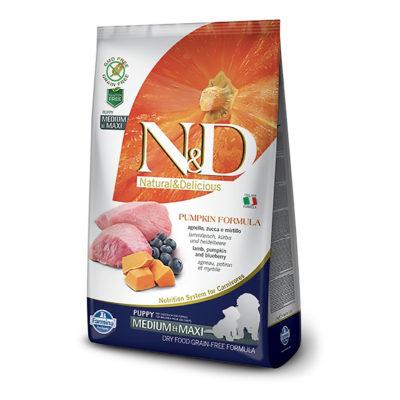 N&D Pumpkin – Jagnjetina Puppy Medium/Maxi
