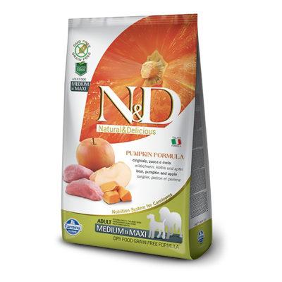 N&D Pumpkin – Divji Prašič Adult Medium/Maxi