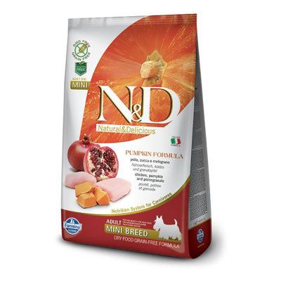 N&D Pumpkin Chicken & Pomegranate Adult Mini